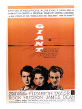 Giant, Rock Hudson, Elizabeth Taylor, James Dean, 1956 Posters