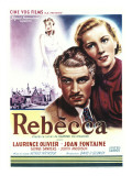 Rebecca, Laurence Olivier, Joan Fontaine on Belgian Poster Art, 1940 Photographie