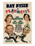 Playmates, Clockwise from Lower Left, Kay Kyser, Ginny Simms, Lupe Velez, John Barrymore, 1941 Posters
