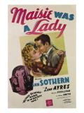 Maisie Was a Lady, Ann Sothern, Maureen O'Sullivan, Lew Ayres, Ann Sothern, 1941 Photo
