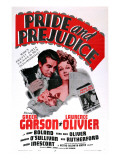 Pride and Prejudice, Laurence Olivier, Greer Garson, 1940 Posters