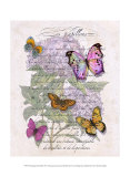 Hydrangea Butterflies II Affiches par Ginny Joyner