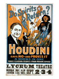 Houdini, Poster Art for Magic Show by Harry Houdini, 1909 - Photo
