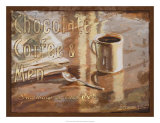 Coffee, Men, Chocolate Giclee Print by Lorraine Vail