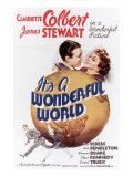 It&#39;s a Wonderful World, James Stewart, Claudette Colbert, 1939 Posters