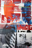 Night Shades & Urban Bourbons Collectable Print by Robert Rauschenberg