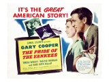 The Pride of the Yankees, Teresa Wright, Gary Cooper, Babe Ruth, 1942 Posters