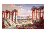 Roman Aquaduct in France, 1835 Posters