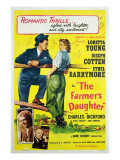 The Farmer's Daughter, Joseph Cotton, Loretta Young, Charles Bickford, Ethel Barrymore, 1947 - Posterler