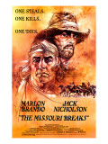 The Missouri Breaks, Marlon Brando, Jack Nicholson, 1976 Photo