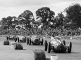 Farina leads the field in his Alfa Romeo 159 during Daily Express Trophy, Silverstone Photographic Print