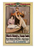 Black Hands and Soap Suds, from Left, Billie Rhodes, Eddie Barry, Harry Ham, 1917 Posters
