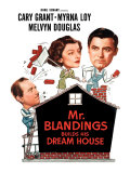 Mr. Blandings Builds His Dream House, Melvyn Douglas, Myrna Loy, Cary Grant, 1948 Posters