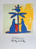 Two Women around a Tree Collectable Print by Andy Warhol
