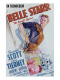 Belle Starr, Gene Tierney, Randolph Scott, 1941 Poster