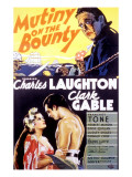 Mutiny on the Bounty, Movita, Clark Gable, Charles Laughton, 1935 Photo