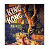 King Kong, Fay Wray, Robert Armstrong, Bruce Cabot, 1933 Giclee Print