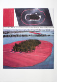 Surrounded Islands, Project for Biscane Bay, Greater Miami, Collage in Two Parts Reproduction pour collectionneur par  Christo