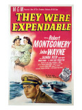 They Were Expendable, John Wayne, Donna Reed, Robert Montgomery, 1945 Posters