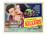 The Killers, Burt Lancaster, Ava Gardner, 1946 Posters