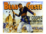 Beau Geste, Gary Cooper, 1939 Poster