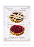 Tartes aux Cerises et Framboises Posters par Ginny Joyner