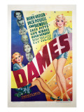 Dames, Ruby Keeler, Dick Powell, Joan Blondell, Zasu Pitts, Guy Kibbee, Hugh Herbert, 1934 Posters