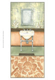 Damask Bath II Prints by Laura Nathan
