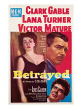Betrayed, Lana Turner, Clark Gable, Victor Mature, 1954 Photo