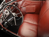 1936 Auburn 852 SC Speedster Interior Photographic Print by S. Clay