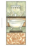 Damask Bath I Print by Laura Nathan