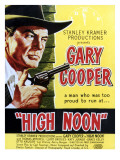 High Noon, Gary Cooper, 1952 Pósters