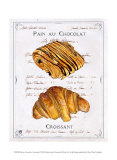 Pain au Chocolat et Croissant Affiches par Ginny Joyner
