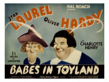 Babes in Toyland,From Left, Stan Laurel, Oliver Hardy, 1934 Julisteet