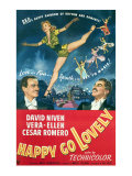 Happy Go Lovely, David Niven, Vera-Ellen, Cesar Romero, 1951 Posters