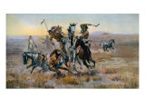 When Sioux and Blackfeet Met, Battle Between the Sioux and Blackfeet Indians, 1902 Photo