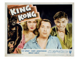 King Kong, Fay Wray, Robert Armstrong, Bruce Cabot, 1933 Photo