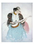 The Banjo Lesson, Painting by Mary Cassatt, 1894 Photo