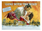 Gone with the Wind, Clark Gable, Vivien Leigh, 1939 Julisteet