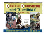 David and Bathsheba, Gregory Peck, Susan Hayward, 1951 Poster