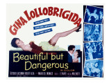 Beautiful But Dangerous, Gina Lollobrigida, 1956 Posters