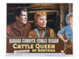 Cattle Queen of Montana, Ronald Reagan, Barbara Stanwyck, 1954 Photo