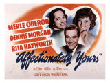 Affectionately Yours, Merle Oberon, Dennis Morgan, Rita Hayworth, 1941 Posters