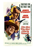 The Man Who Shot Liberty Valance, James Stewart, John Wayne, Vera Miles, 1962 Photo