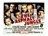 The Asphalt Jungle, with Jean Hagen, Sterling Hayden, Anthony Caruso, and Marilyn Monroe, 1950 Posters