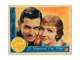 It Happened One Night, Clark Gable, Claudette Colbert, 1934 Fotografía
