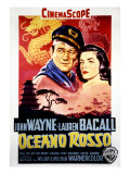 Blood Alley, John Wayne, Lauren Bacall, 1955 Poster