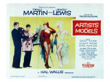 Artists and Models, Dean Martin, Jerry Lewis, Shirley Maclaine, 1955 Poster