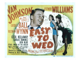 Easy to Wed, Van Johnson, Esther Williams, Lucille Ball, 1946 Lminas