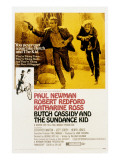 Butch Cassidy and the Sundance Kid, Paul Newman, Robert Redford, 1969 Posters